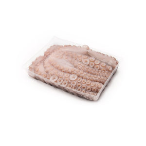 Raw Frozen Octopus in Tray